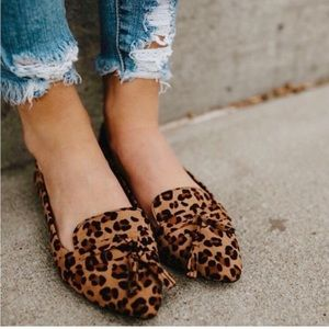 Shoes - NEW leopard cheetah flats! (Loafer mule)